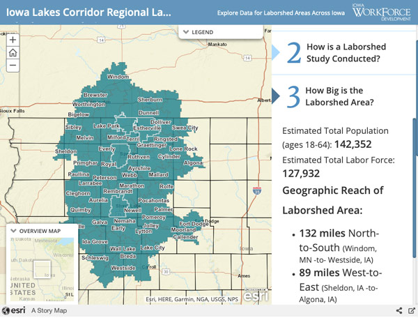 Laborshed area - Iowa Workforce Development